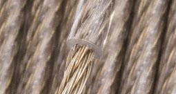 Lina stalowa mosiądzowana w powłoce PVC